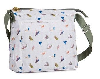 TaylorHe Shoulder Bag Handbag Cross Body Bag Beautiful Birds.
