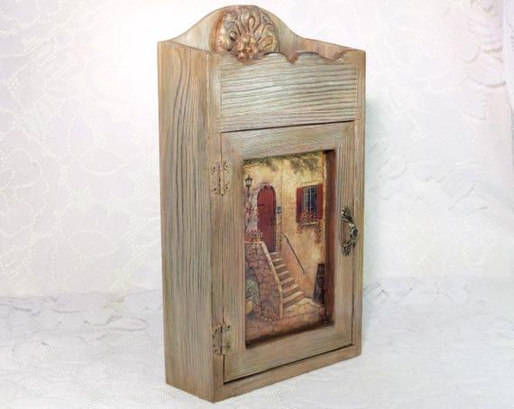 Wooden Key Box Rustic Key Storage Key Holder Wood Key Rack   Etsy