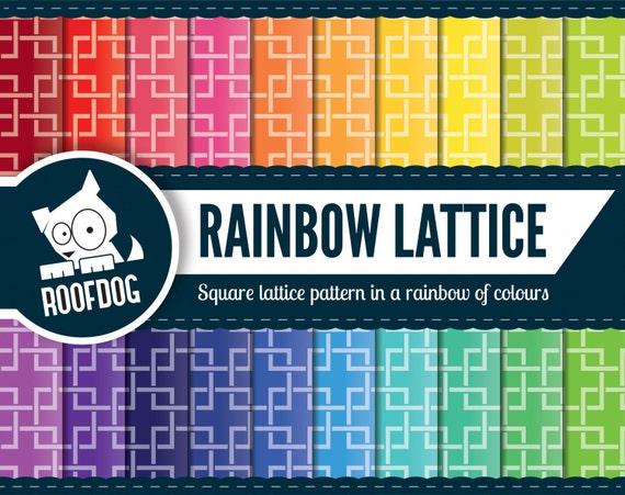 Rainbow Lattice digital paper   Japanese pattern rainbow lattice ...