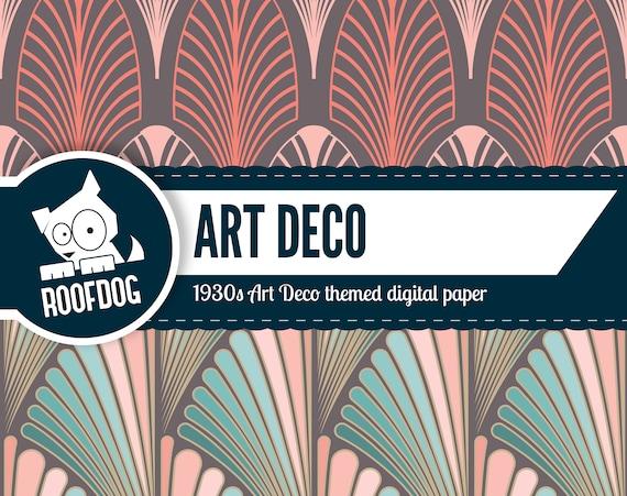 Art deco digitale papier jaren art deco patronen etsy