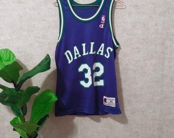 872d50d45 Vintage 1990 s Dallas Mavericks Blue Champion Jersey