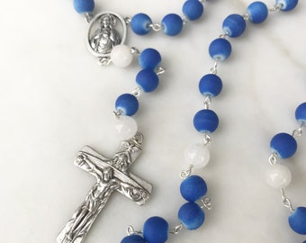 Blue Matte Rosary