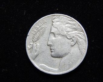 1922 italian 20 cent coin