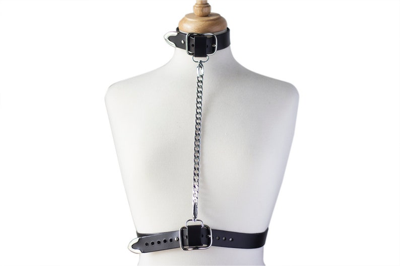 Belt Harness with Chain and Silver Brass Hardware Belcalis Harness