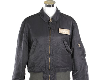 Alpha Industries charcoal grey flyers CWU-45 bomber jacket made in Tennessee, in great condition.
