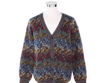 69011f187cba Missoni fine knits iconic multicolour pattern wool mohair blend cardigan  made in Italy by Malerba