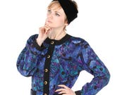 Felicia vintage quilted floral Chanel style ladies jacket, 1980s in mint condition.