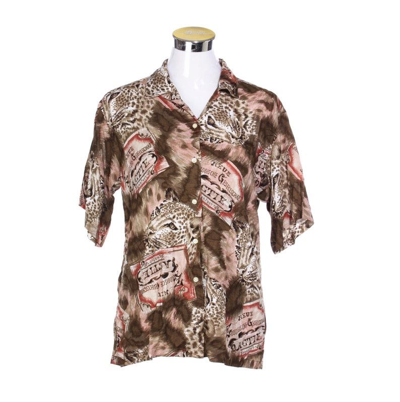 f794e4788 Cacharel Paris cheetah animalier print aloha shirt fancy and | Etsy