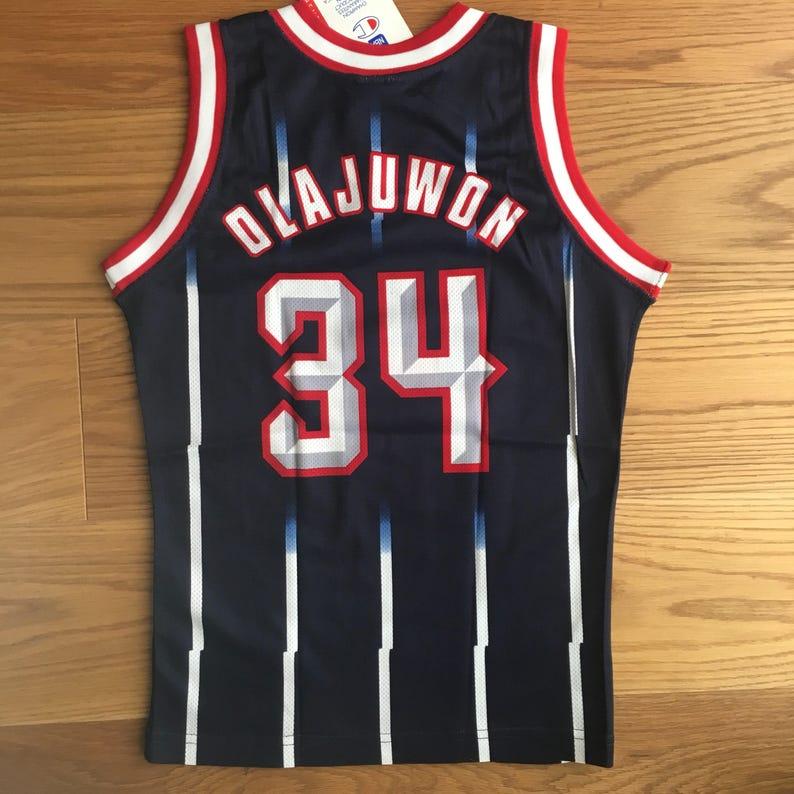 Hakeem Olajuwon 31 Rockets NBA Champions vintage 90s jersey  247843394