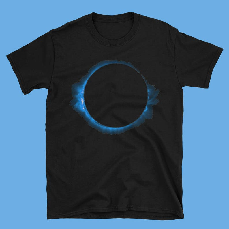 35640626b0f27 Full moon eclipse t shirt in red, yellow, blue or green colours, black t  shirt for astronomy - dark - romance lovers