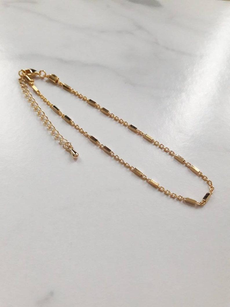 16K Gold Plated Anklet,gold chain anklet,dainty gold anklet,delicate chain anklet,gold ankle bracelet,simple anklet,modern anklet,gift idea