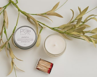 Handmade Candle, 4oz Coconut Soy Blend Candle, Palafox Candle, Hand Poured Candle