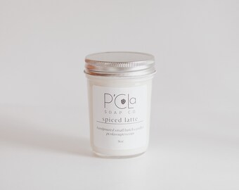 Handmade Candle, Coconut Soy Blend Candle, Spiced Latte Candle, Hand Poured Candle