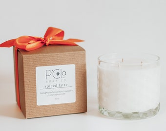 Handmade Candle, Three Wick 16oz Candle, Coconut Soy Blend Candle, Spiced Latte Candle, Hand Poured Candle