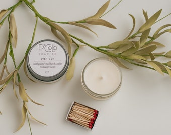 Handmade Candle, 4oz. Coconut Soy Blend Candle, 17th Ave Candle, Hand Poured Candle
