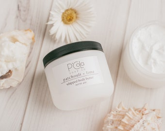 Patchouli Lime Whipped Body Butter   Whipped Shea Butter   Gifts For Her   All Natural Body Butter   Moisturizing Body Butter