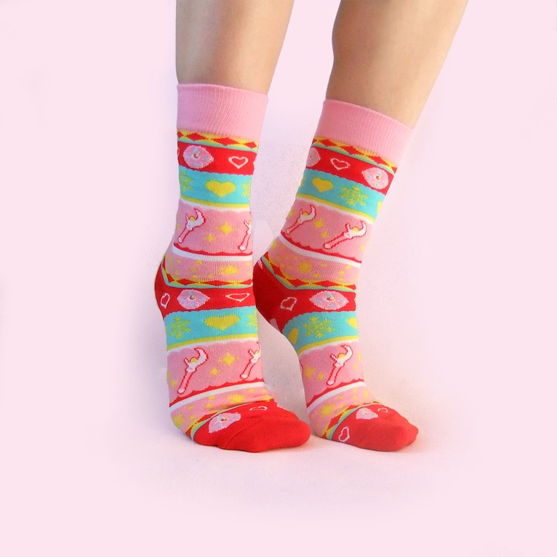 Magical Girl Christmas Socks image 0