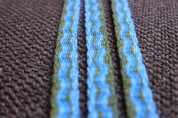 Tablet woven viking belt, pagan headband, medieval costume trim, larp dress  waist belt, viking sca clothing detail, folk fashion style strap
