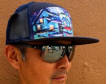 74b86b4da Artistic trucker hat | Etsy