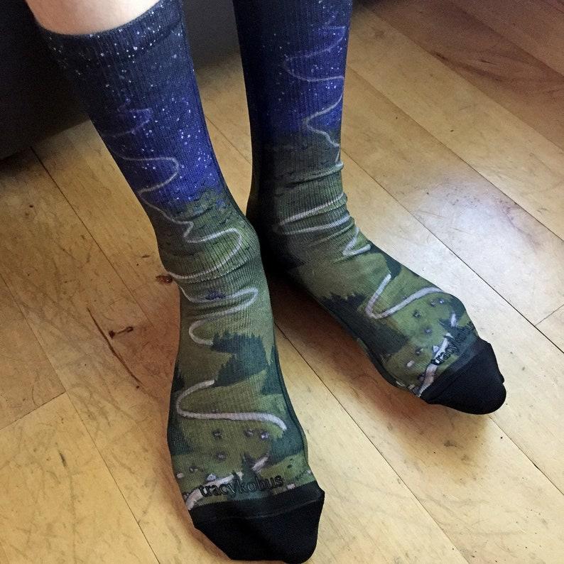 Journeys Printed Art Socks image 0