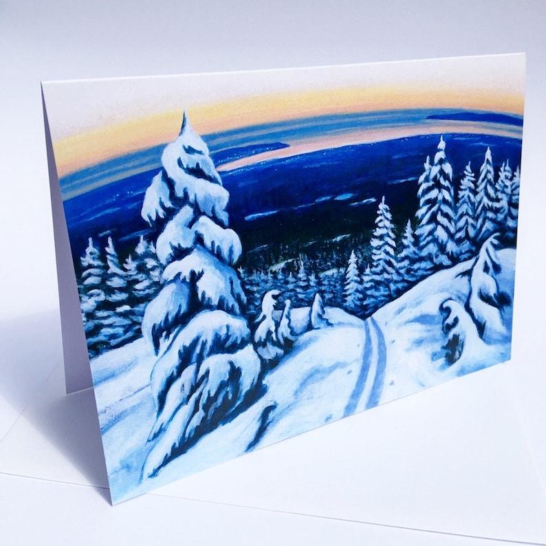 Winter Trail Art Card image 0