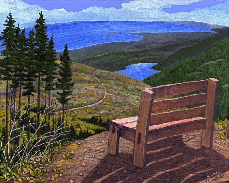 View From the Mountains Canvas Giclee 11 x 14 image 0