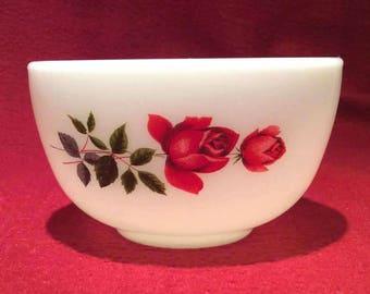Pyrex JAJ June Rose Sugar Bowl circa 1960