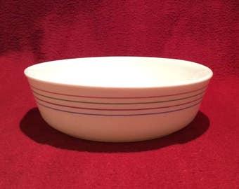 "Pyrex Spectrum Cereal Bowl 6"" diameter 1983"