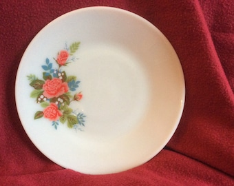 Pyrex JAJ Cottage Rose Salad Plate 8.5""