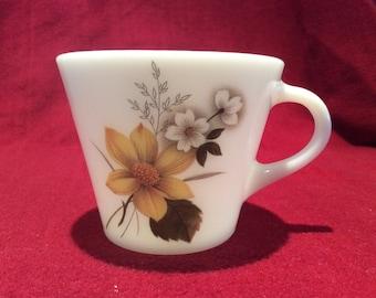 Pyrex JAJ Autumn Glory Dahlia Tea Cup