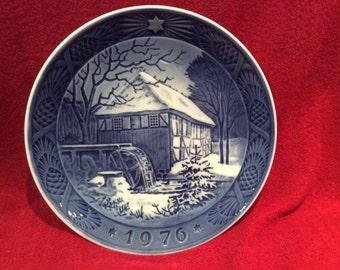 Royal Copenhagen Porcelain Plate Vibaek Water Mill 18cm diameter