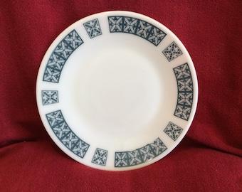 "Pyrex JAJ Belmont Salad or Dessert Plate 8.3/8"" diameter"