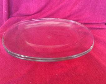 """Pyrex JAJ Clear Glass Steak Plates 12""""x9"""""""