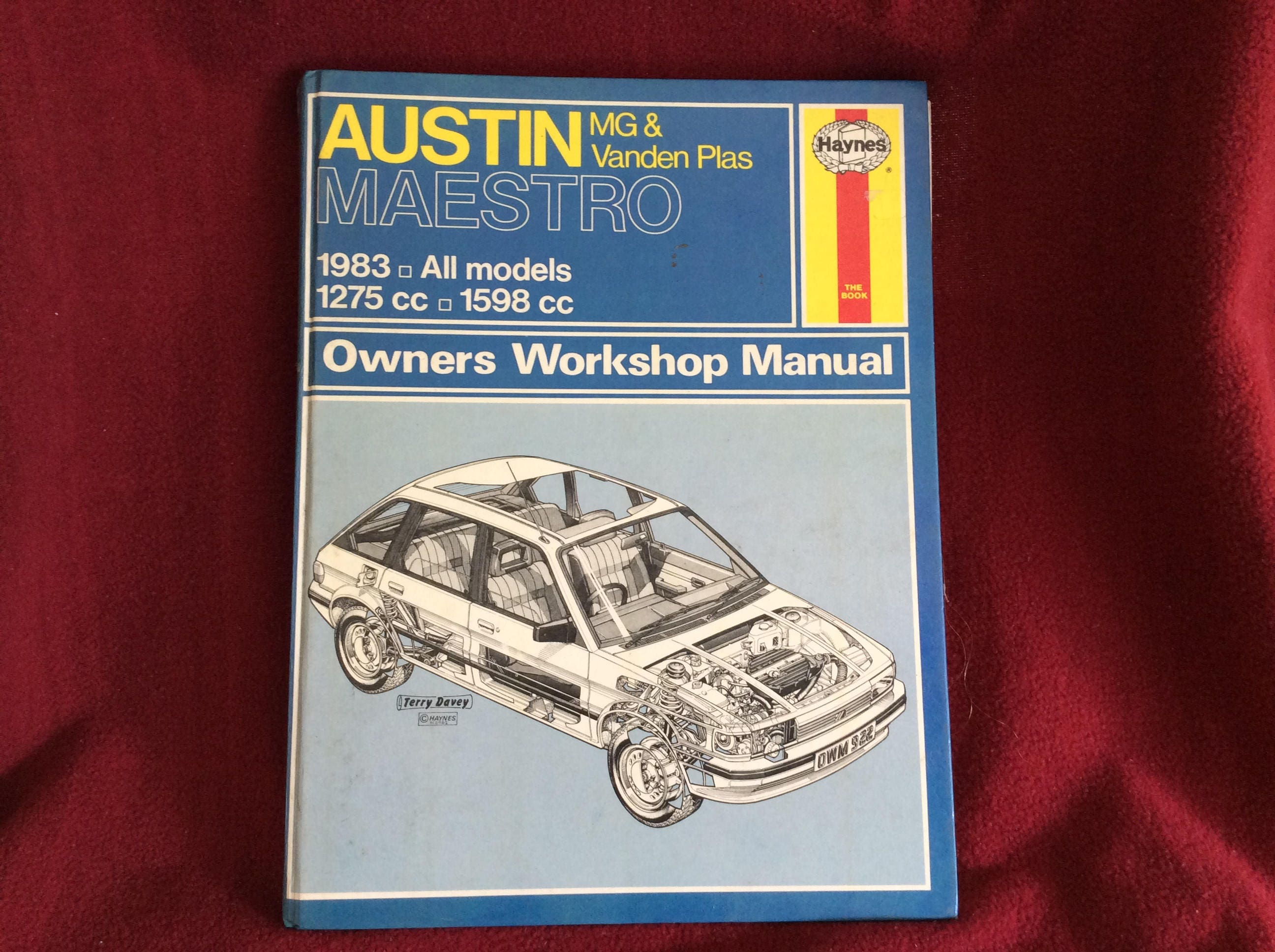 Haynes Owners Workshop Manual Austin MG and Vanden Plas Maestro #922