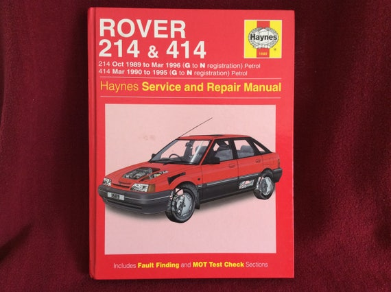 haynes owners workshop manual rover 214 414 petrol 1689 rh etsy com Rover 400 1999 Rover 214 Cabrio