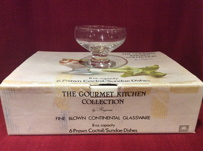 Rayware The Gourmet Kitchen Collection Prawn Cocktail or Sundae Dishes 8 oz