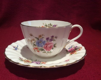 Royal Worcester Roanoke Tea Cup and Saucer circa 1960's