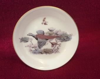 Royal Worcester Pheasant Pin Dish