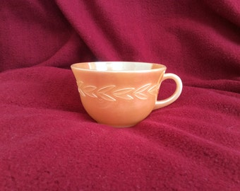 Fire King Ware Peach Lustre Laurel Leaf Cup