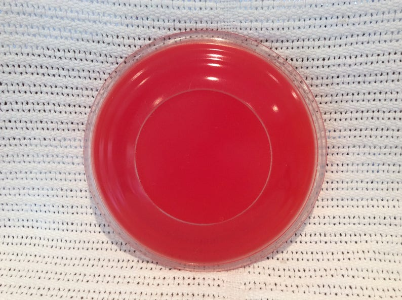 Phoenix Coral Red Sprayware Side Plate 6.75 Diameter circa 1950