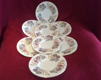 Set of 8 Wedgwood Lichfield - Back Stamp Green Coffee Saucer