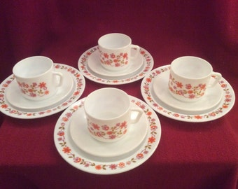 Arcopal Scania Cup, Saucer & Tea Plate Trio