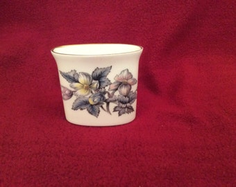 Royal Worcester Flower Pattern Matchstick of Toothpick Holder