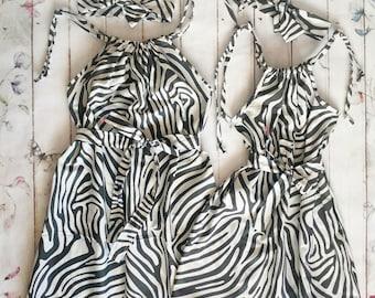 a9dea6179d8b50 Mutter und Tochter Kleider mit %100 Bio-Baumwolle. Pric ist für 2 Kleider.  Bitte erwähnen Sie die beiden Größen für Mama und Tochter