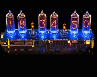IN 14 Nixie Tubes Clock Arduino Shield NCS314 Hw2 Remote GPS Temp With