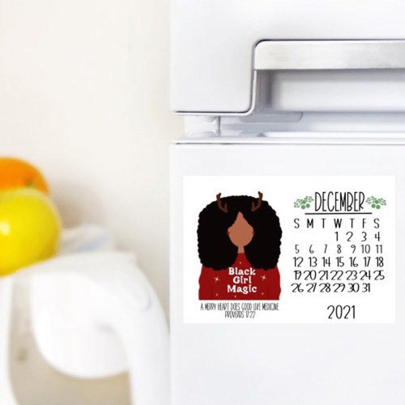 December/Calendar Magnet/Fall Decor/Home Decor/Dorm Decor/ image 0