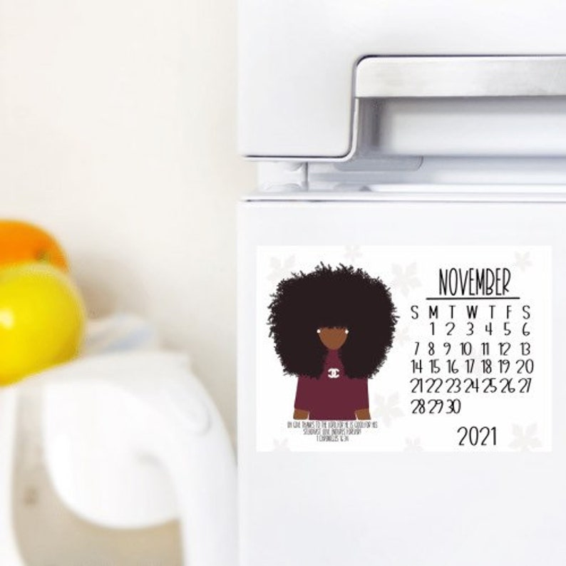 November/Calendar Magnet/Fall Decor/Home Decor/Dorm Decor/ image 0