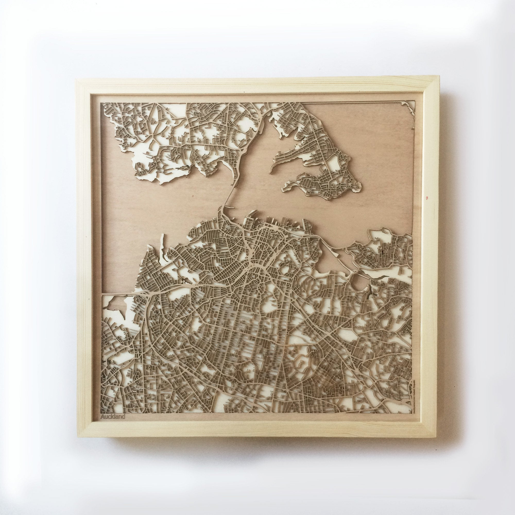 Wedding Gifts Auckland: Laser Cut Wood Streets Maps 3d