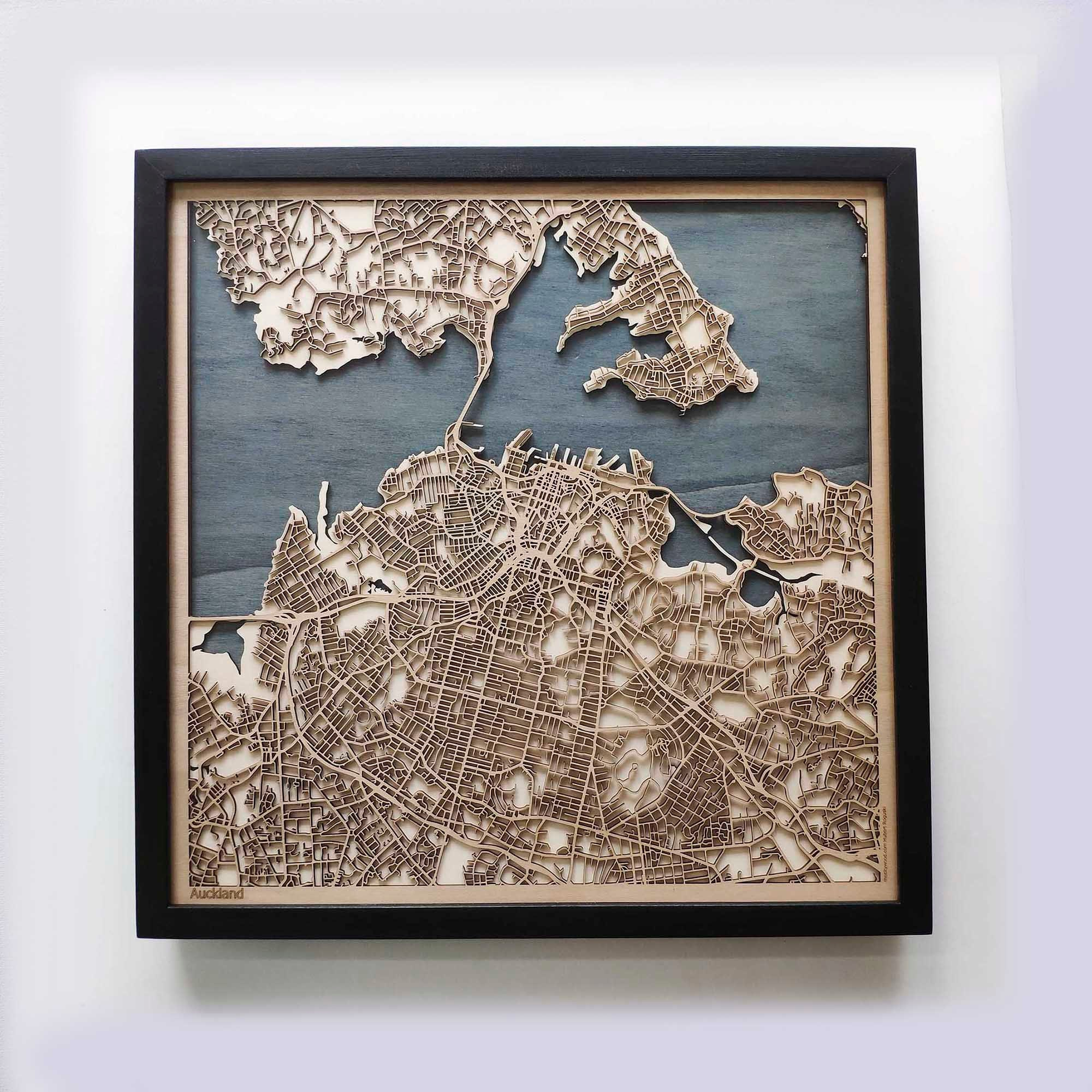 Wedding Gifts Auckland: Laser Cut Custom Map Streets City 3d