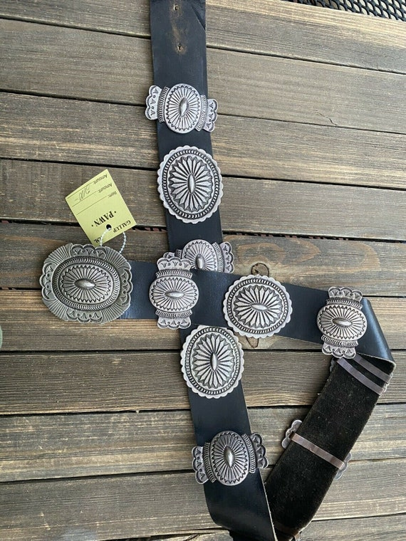 Old Pawn Sterling Silver Concho Belt